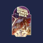 Star Wars - Empire Strikes Back 40th Anniversary Empire Navy T-Shirt - Packshot 2