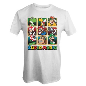 Nintendo - Super Mario Characters Gold Boxes T-Shirt - Clothing