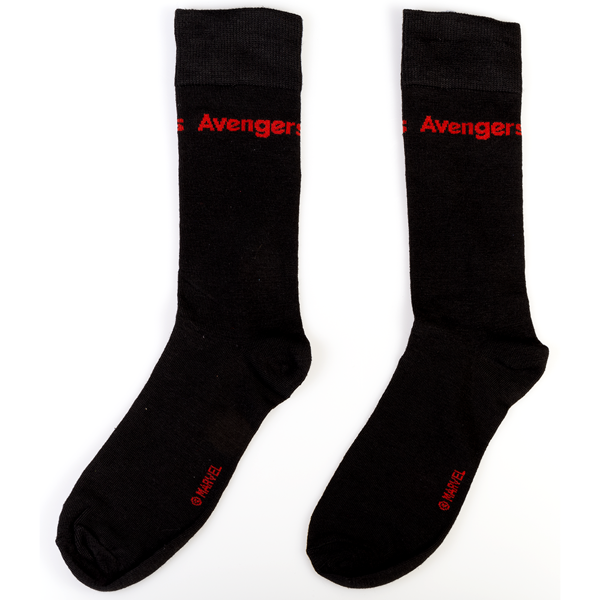 Marvel - Avengers: Endgame - Avengers Black and Red Socks - Packshot 1