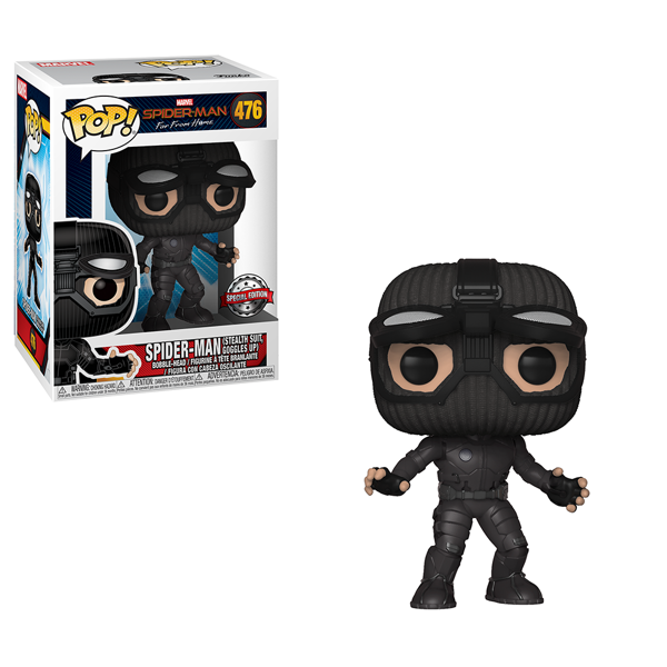 Marvel - Spider-Man: Far From Home - Spider-Man Stealth Suit Goggles Up Pop! Vinyl Figure - Packshot 1