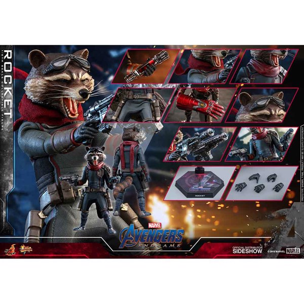 Marvel - Avengers 4: Endgame - Rocket Raccoon 1:6 Scale Action Figure - Packshot 6
