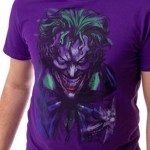 DC Comics - Joker Face Purple T-Shirt - Packshot 3