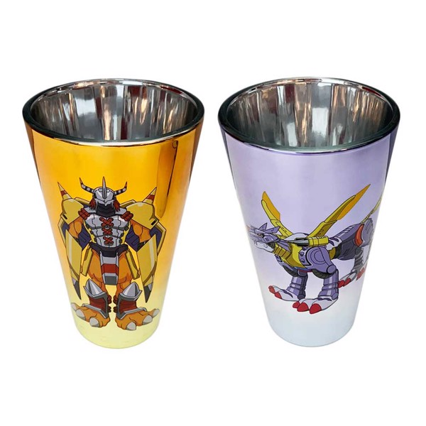 Digimon - Purple and Gold Glass 2 Pack - Packshot 1