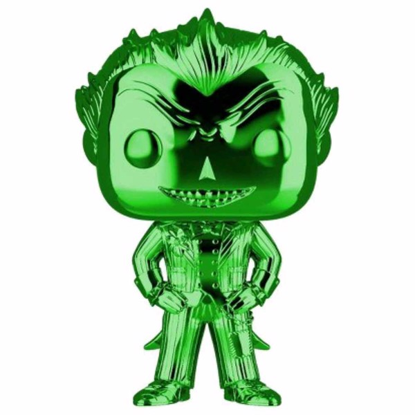 DC Comics - Batman: Arkham Asylum - The Joker Green Chrome Pop! Vinyl Figure - Packshot 1