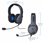 PDP Gaming LVL50 Wired Stereo Headset for PlayStation 4 - Packshot 2
