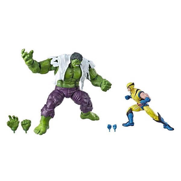 Marvel - Marvel Comics 80th Anniversary - 6-Inch-Scale Hulk Vs. Wolverine Legends Series Action Figure 2-Pack  - Packshot 1