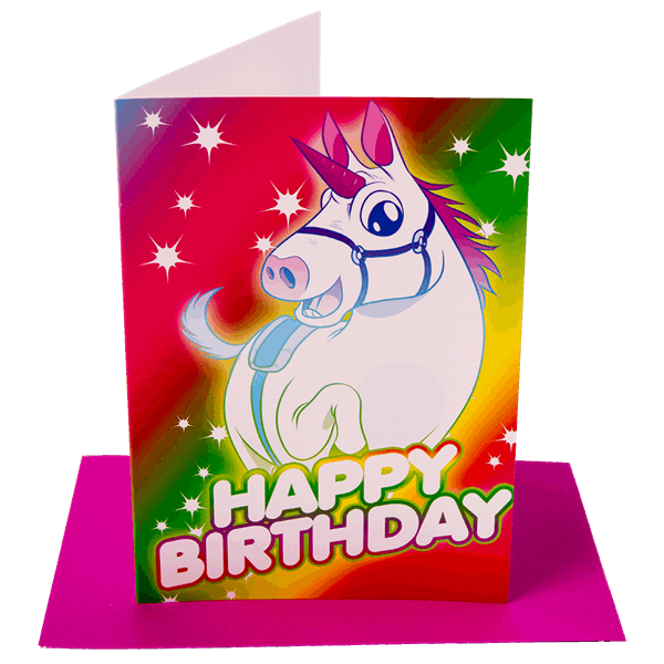 Happy Birthday Unicorn Greeting Card - Packshot 1