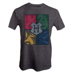 Harry Potter - House Crest Grey T-Shirt - Size: S - Packshot 1