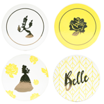 Disney - Beauty and The Beast - Belle Gold Pinache Coasters 4 Pack - Packshot 1