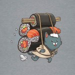 Catfood Sushi Run T-Shirt - Grey - Packshot 2