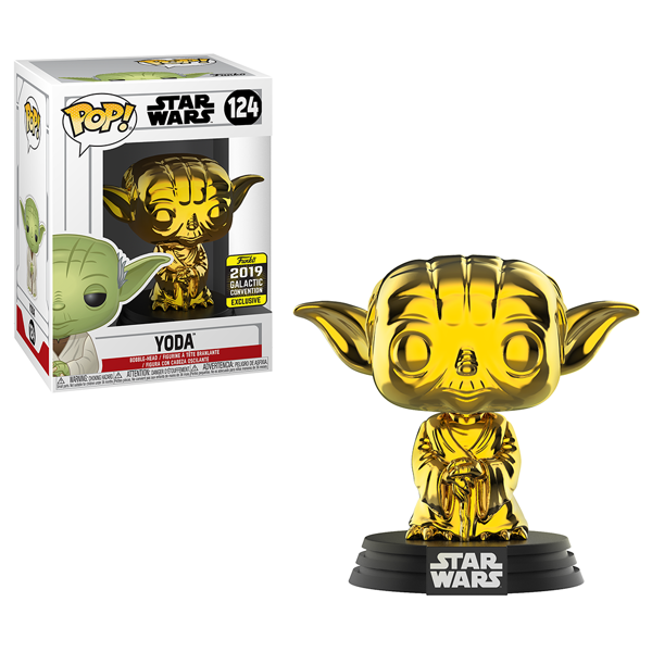 Star Wars - Yoda Gold Chrome Pop! Vinyl Figure - Packshot 1