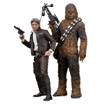 Star Wars - Episode VII - Han Solo and Chewbacca 1/10 Scale Statue - Packshot 1