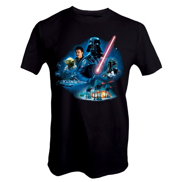 Star Wars - Empire Strikes Back 40th Anniversary Vader Group T-Shirt - Packshot 1
