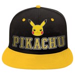 Pokemon - Pikachu Flat Peak Black & Yellow Cap - Packshot 1
