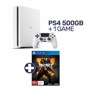 PlayStation 4 500GB White Console + 1 Game