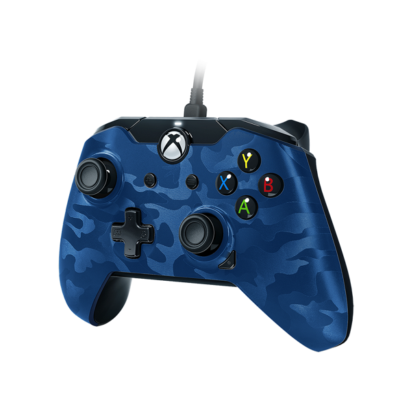 Xbox One Wired Controller - Blue Camo - Packshot 2