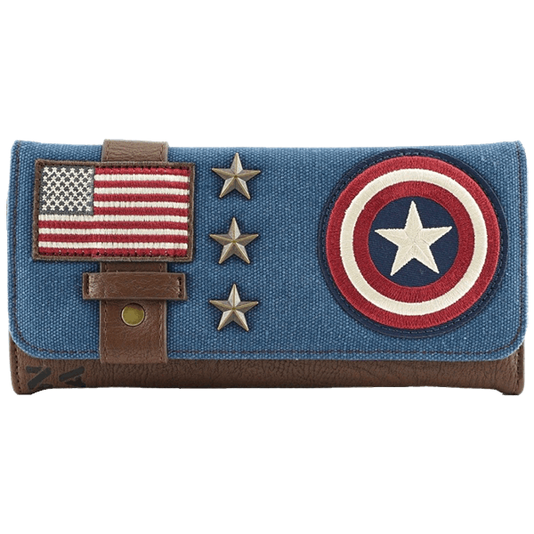Marvel - Captain America Loungefly Canvas Trifold Wallet - Packshot 1