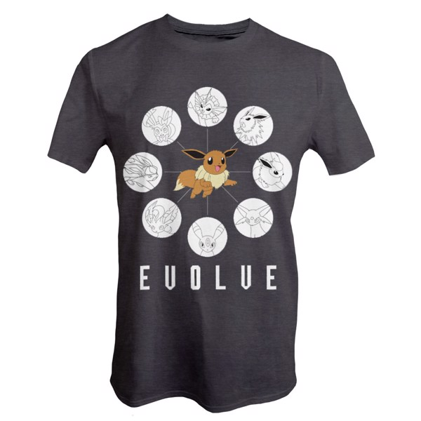 Pokemon - Eevee Evolution Grid T-Shirt - Packshot 1