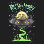 Rick and Morty - Spaceship T-Shirt - Packshot 2
