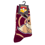 Pokemon - Eevee Maroon Swirl Socks - Packshot 1