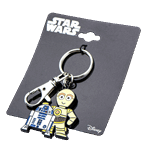 Star Wars - R2-D2 and C-3PO Stainless Steel Key Chain - Packshot 1