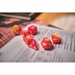 Double Colour Red RPG Dice 7-Set - Packshot 3