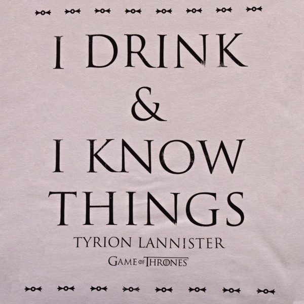 Game Of Thrones - Drink & Know Grey T-Shirt - XXL - Packshot 2