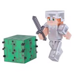 Minecraft - Alex in Iron Armor - Core Figure Pack - Packshot 1