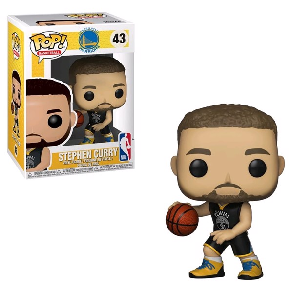 brand new 9492a 6326b NBA - Warriors - Stephen Curry Pop! Vinyl Figure