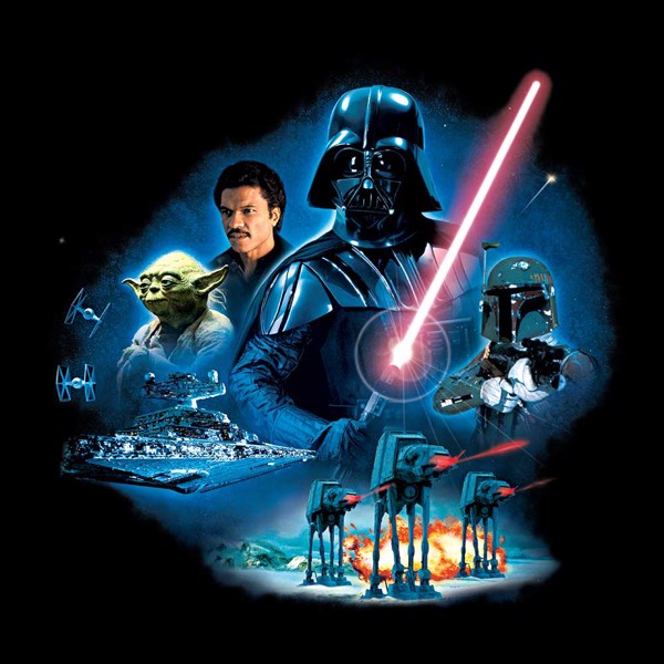Star Wars - Empire Strikes Back 40th Anniversary Vader Group T-Shirt - L - Packshot 2