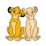 Disney - The Lion King - Simba and Nala T-Shirt - Packshot 2