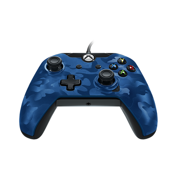 Xbox One Wired Controller - Blue Camo - Packshot 3