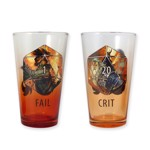 Dungeons & Dragons - Crit & Fail Pint Glass 2-Pack - Packshot 1