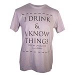 Game Of Thrones - Drink & Know Grey T-Shirt - Packshot 1