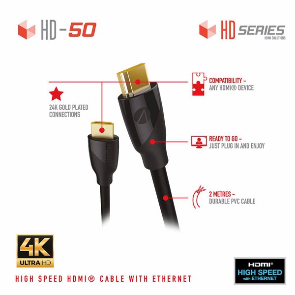 STEALTH HD-50 HDMI 2m High-Speed Cable with Ethernet - Packshot 5