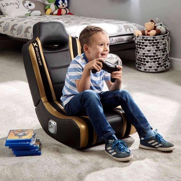 X-Rocker Shadow 2.0 Gaming Rocker (NEW 19) Black & Gold Gaming Chair - Packshot 6