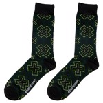 Xbox X-Pattern Black & Green Logo Socks - Packshot 1