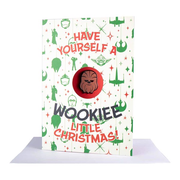 Star Wars - Chewbacca Xmas Card With Pin - Packshot 1