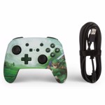 Nintendo Switch PowerA Wired Enhanced Controller - Hyrule Green - Packshot 2