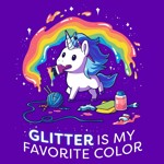 Glitter Is My Fav T-Shirt - XL - Packshot 2