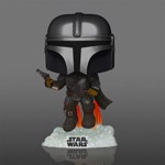 Star Wars - Flying Mandalorian with Blaster Glow Pop! Vinyl Figure - Packshot 2