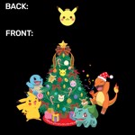 Pokemon - Kanto Starters Holiday T-Shirt - Packshot 3