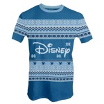 Disney - Blue Logo Christmas T-Shirt - L - Packshot 1