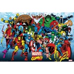 Marvel - Retro Characters in Action Poster - Packshot 1