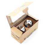 Heavy Metal D20 Chrome Metal Finish Numbers 2-Dice Set - Packshot 2