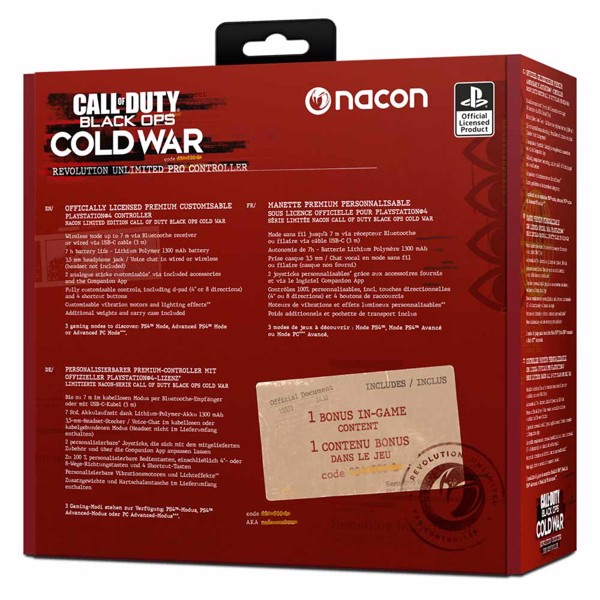 Nacon Revolution Unlimited Pro Controller for PS4 - Call of Duty Cold War Edition - Packshot 4