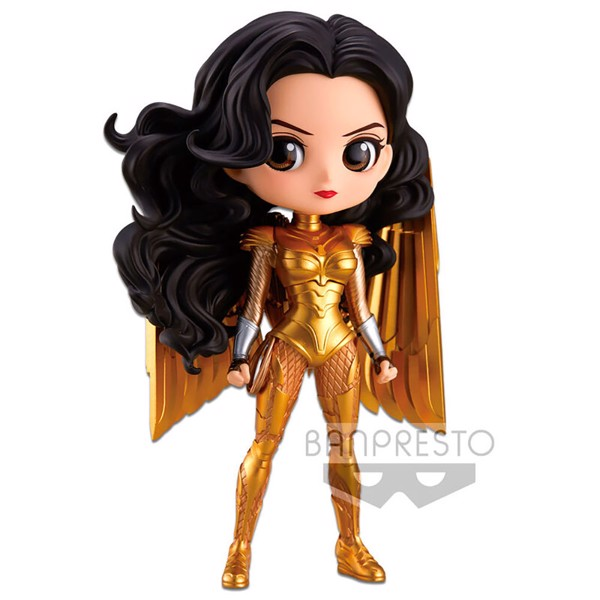 DC Comics - Wonder Woman 1984 Diana In Gold Armour Q Posket Figure - Packshot 1