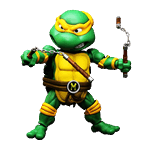 Teenage Mutant Ninja Turtles - Michelangelo 14cm HEROCROSS Hybrid Metal Figure - Packshot 1