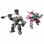 LEGO - Overwatch - D-Va and Reinhardt - Packshot 2