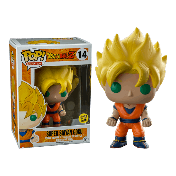 Dragon Ball Z - Super Saiyan Goku (Glow-in-the-Dark) Pop! Vinyl Figure - Packshot 2